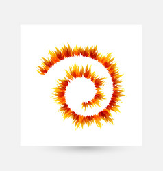 Fire design collection swirl line decoration vector