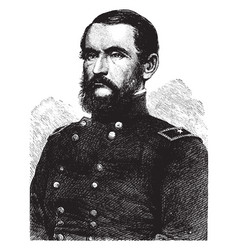 General john james peck vintage vector