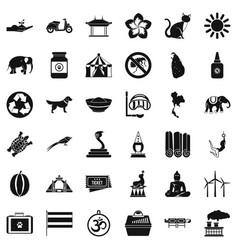 Good elephant icons set simple style vector
