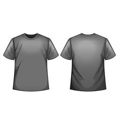 Grey shirt vector