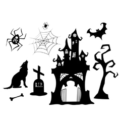 Halloween silhouettes vector