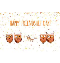 Happy friends enjoying friendship day vector