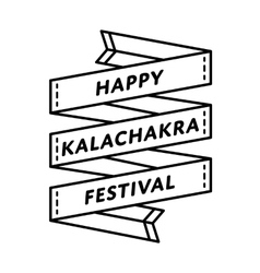 Happy Kalachakra festival greeting emblem vector