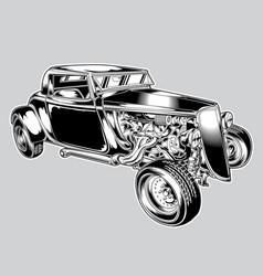 Hotrod car classic balck vintage eps vector
