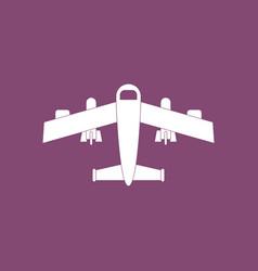Icon military heavy bomber vector