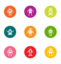 Iron orgasm icons set flat style vector