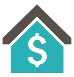 Loan Mortgage Flat Icon vector image