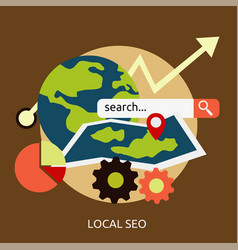 Local seo conceptual design vector