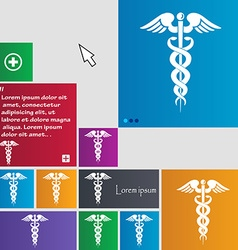 Medicine icon sign buttons Modern interface vector