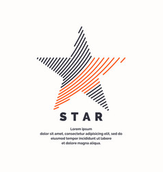 Modern logo star in a futuristic style vector