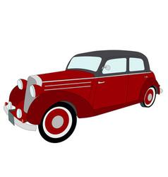 old timer vintage car vector image