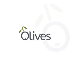 Olives logo black ripe and green olive vector