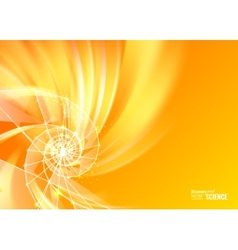 Orange abstract swirl vector image