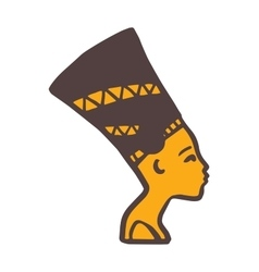 Pharaoh head vector image