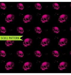 pink black skull pattern vector image vector image