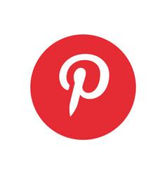 Pinterest icon design vector
