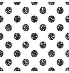 Pizza with olives and mushrooms pattern vector
