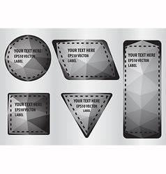 Polygon label vector image