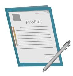 profile folder1 vector image