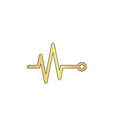 Pulse computer symbol vector image