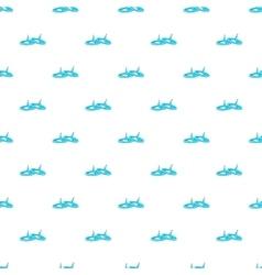 Pushpins pattern cartoon style vector image