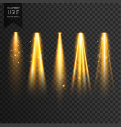 Realistic stage lights or concert spotlights vector