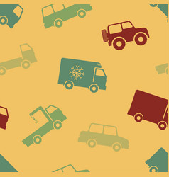 Retro seamless cars pattern vector