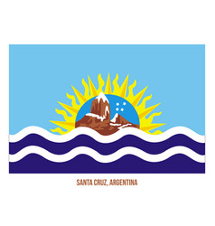 Santa cruz flag on white background flag of vector