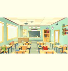 school classroom interior university vector image