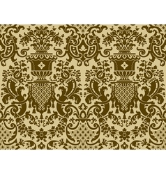 Seamless pattern in the style of Baroque vector image