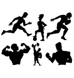 set of sportsmen vector image