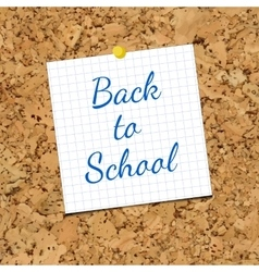 Sheet of Paper and Back To School on vector image