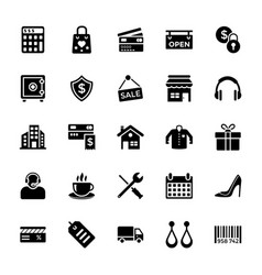 shopping and commerce icon vector image