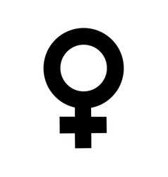 Sign female gender black icon a symbol sexual vector