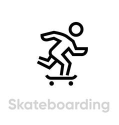 Skateboarding sport icons vector