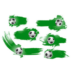 soccer ball banner of football championship design vector image