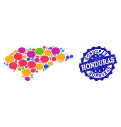 Social network map of honduras with speech bubbles vector