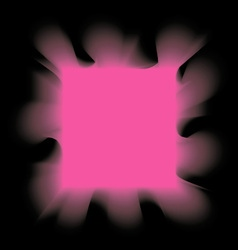 square pink smoke on a black background vector image