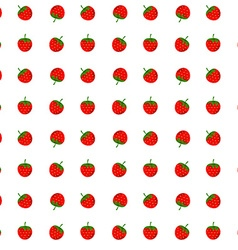 Strawberry seamless pattern design element vector image