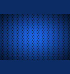 structured blue metallic perforated background vector image