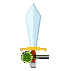 Sword shape videogame bar icon vector