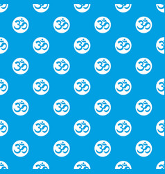 Symbol aum pattern seamless blue vector