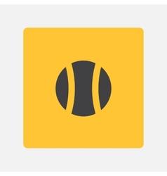 Tenysny ball icon vector image