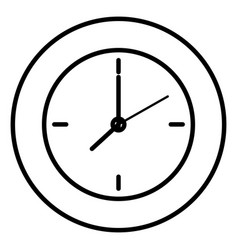 Time clock wall isolated icon vector