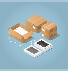 Unpacking online purchase vector