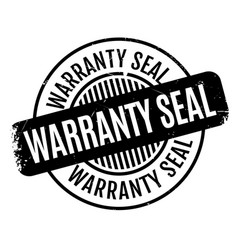 Warranty seal rubber stamp vector