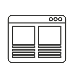 web page template isolated icon vector image