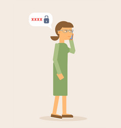 Woman with smartphone flat vector