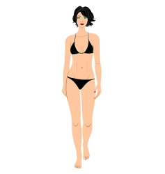 bathing suit beauty vector image vector image