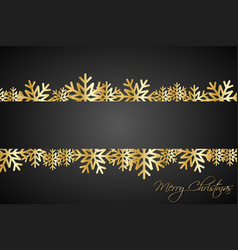 golded christmas snowflakes background with space vector image